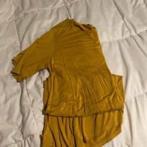 Mustard Yellow T-Shirt Dress